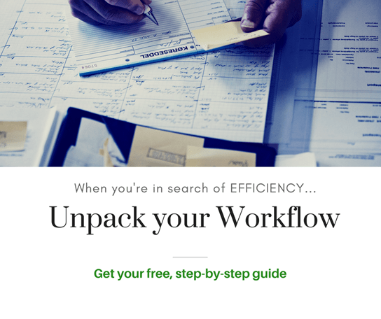 In search of efficiency: Unpack your workflow